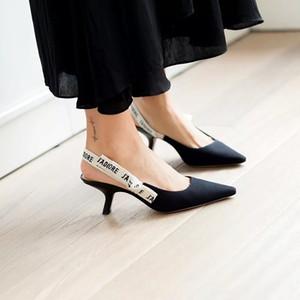 ZHENZHOU Стильные Луки Узлы Женские Туфли на высоком каблуке Сандалии Остроконечные Буквы Модные Кошки Каблуки назад пустые женские туфли на платформе Slingback ShoesMX190824