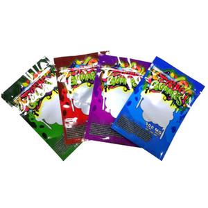 500MG Dank Gummies Tasche Maylar geruchssicher Einzelhandel Verpackung Reißverschluss-Beutels mit Fenstern 4 Farben DHL-freien