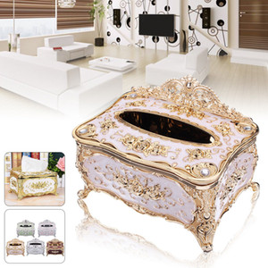 Freies verschiffen Elegante Gold Tissue Box Abdeckung Chic Serviette Fall Halter Hotel Home Decor Organizer Display Box
