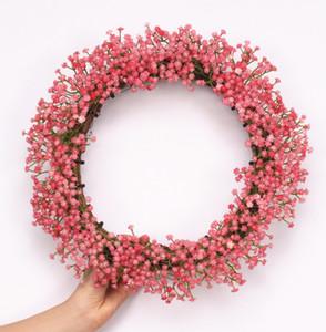 Diy 30 cm planta de lavanda artificial rota guirnalda guirnalda del banquete de boda de la puerta del hogar ventana inicio decoración flores regalo
