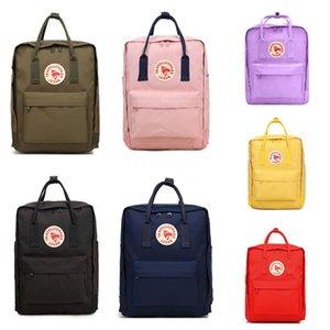 2020 Cheap Fjallraven kanken Canvas Backpacks Army green sports backpacks Students Waterproof Computer backpacks Travel Backpac in sto #QA474