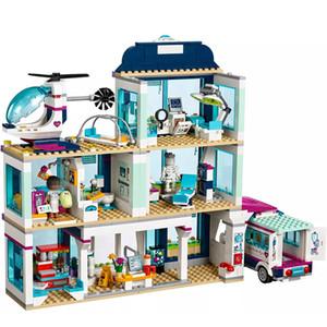 Legoingly 친구 41318 소녀 장난감 S200112와 호환 친구 도시 Heartlake 병원 구급차 블록 세트 공주 해저 궁전