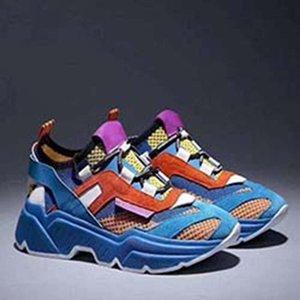 Роскошные мужские парусиновые туфли SUPER KING Calfskin Trainers кроссовки модные женские кроссовки французский дизайнерский бренд Повседневная обувь A08
