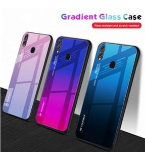 Красочный Чехол для Телефона Градиента Для Huawei Y9 Y6prime P smart Plus 2019 Nova 4E 3i P30 P20 Pro Lite Honor 10i 20i 8A 8X Стеклянная Крышка