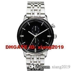Frete grátis AR0389 CLASSIC RETRO MENS SILVER pulseira de relógio + ORIGINAL BOX