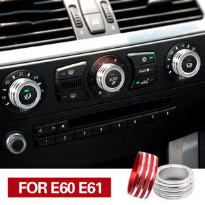 BMW E61 E60 에어 컨디셔닝 노브 커버 인테리어 용 인테리어 트림 5 시리즈 용 BMW 자동차 액세서리 인테리어