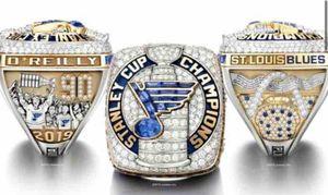 Ahşap Ekran Kutusu Souvenir Fan Hediye Toptan 2020 Drop Shipping ile 2018 2019 St.Louis Blues Stanley Cup Takım Şampiyonlar Şampiyonası Yüzük