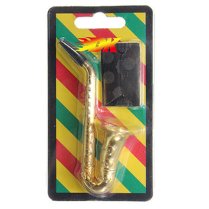 Творческое саксофона Курительные трубки металла табака трубы с металлическим экраном Рот Советы Портативный Трубы Мини табак