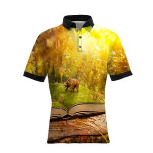 19SS Hot Sellers Nuevo estilo 3D impresión digital polos de los hombres TAMAÑO GRANDE Casual Mens Designer T Shirts Versión suelta