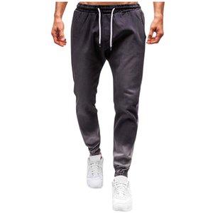 Men Fashion Denim Trouser Distressed Flexible Jeans Long Pencil Pants Streetwear Mens Casual Pants Fitness Men Sportswear#G40