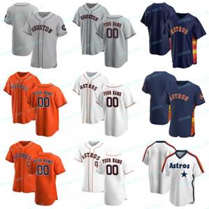 2020 Nouvelle coutume de baseball George 4 Springer Nolan Ryan 34 Craig Biggio 7 Jose 27 Altuve Alex 2 Bregman Maillots Hommes Femmes Enfants