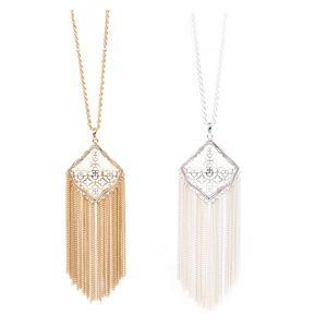 Мода Кендра Стиль Кайт Филигранная кисточка ожерелье для женщин