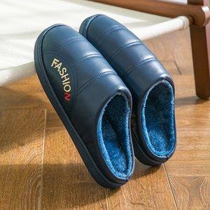 Ev ayakkabı erkekler Terlik Ev Terlik Kadın Erkek Çiftler Kaymaz Zemin Deri Terlik Kapalı Yatak Odası Ayakkabı Chinelo Isınma