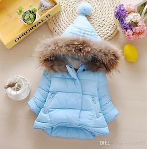 uropean and American fashion children's cotton girls cotton jacket children's clothing plus velvet hooded thickening children&#039