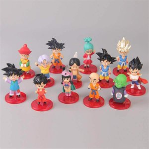 13 lotto / 8CM Dragon Ball azione PVC Figure 13 disegni Goku Vegeta 8CM Dragon Ball Z Collection Modello Toy Dolls