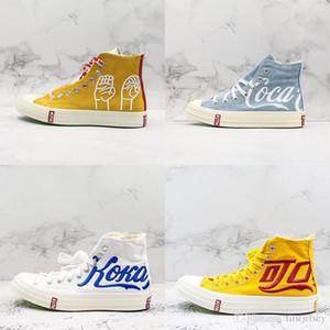 새로운 일가가 코카콜라 높은 캔버스 신발 척을 70 개 안녕하세요 테일러 별 1970 세 파티 컨소시엄 콜라 스포츠 운동화 캐주얼 디자이너 트레이너 X