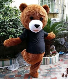 منافذ بيع مصنع 2019 حار الرأس زي التميمة الدب تيدي جميلة للبالغين لارتداء