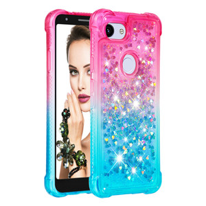 2019 mais recente venda quente shatter-resistente à prova d 'água cor gradiente quicksand tpu phone case para lg k40 k12 plus lg stylo 5