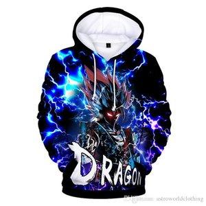 Dragon Ball Z Mens Designer Hoodies Goku Imprimé 3D Sweats Adolescents À Manches Longues O Cou Mâle Vêtement