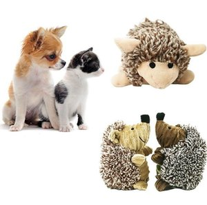 Pet Toy Sound Bite Squeaky Plush Toys Pet Hedgehog Lovely Toy Children Gifts Plush Hedgehog Sheep Bear Cat Puppy Chew Training Toy LDH230