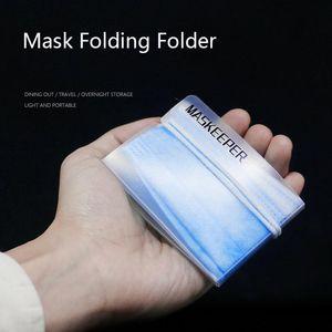 Envío libre de DHL plegable Boca Máscara Caja de almacenamiento de polvo, desechables Mascarilla Guardián titular reutilizable máscara de corte de almacenamiento