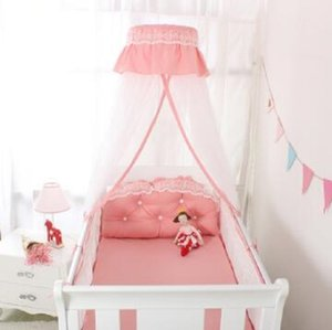 2020 New Baby Bed Crib Netting Hanging Round Shading Dome Universal Floor Stand Baby Mosquito Nets For Baby Room Bed Curtain Tent