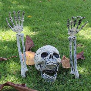 Festa de Halloween decoração do cemitério Prop Ornamento Ossos de esqueleto participação de terreno assustador DIY reutilizável Skulls Lifelike Bar Início Lawn