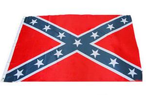 transporte livre Bandeira da guerra Rebel Civil Two Sides Bandeira Impresso Confederate National Polyester Flag 5 X 3FT 50pcs