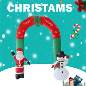 Nuevo producto de Navidad Patio inflación Arco de Santa Claus muñeco de nieve Casa Comprar Yard Jardín Decoración inflable Prop Calidad Alta 190hcH1