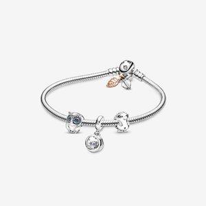 GChic Stay with You Charm Life Best Friend Bracelet Set Owl Blue Charms DIY Fit Original Pandora Bracelets Jewelry Pulseras