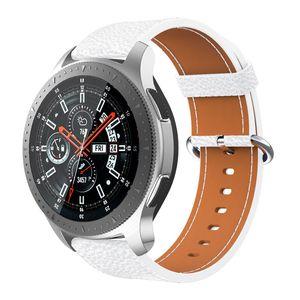 Samsung Galaxy İzle için Watch Band kayışı 46mm 22mm klasik Huawei İzle GT Için Hakiki yumuşak Deri bilekliği kayışlar 46mm