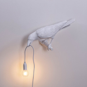 Post Modern Bird Wall Lamp Left Right Animal Bird Wall Sconces with Plug for Bedroom Living Room Art Indoor LED Bird Wall Light Fixtures