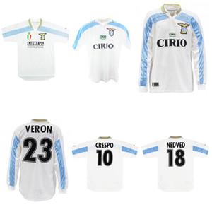 1999 2000 2001 Lazio deplasmanda Retro forması SALAS Mihayloviç VERON STANKOVIC MANCINI NESTA NEDVED Inzaghi Crespo klasik bağbozumu futbol forması