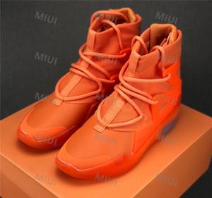 Nuevo Dios de los hombres Zapatos FOG Botas de hueso Negro de vela de harina de avena Zapatos Jerry Lorenzo Cadena de harina de avena Zapatos Tan Hue de punto Amarillo