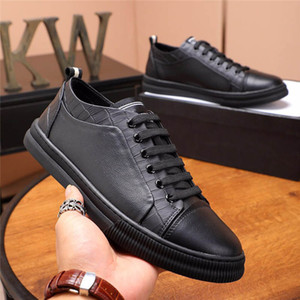 2020 latest official design fashion leather sneakers boys Italian leather luxury casual shoes skateboard white black fashion dad sneakers fr