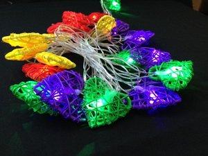lámpara de corazón 110v 220v Modelado de cuerdas de luz de colores rota por un árbol al aire libre patio interior decoración de la Navidad