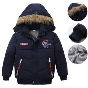 Baby Boy Winter Snowsuits Winter Warm Zip Hooded Jacket Down Coat Outwear Baby & Kids Clothing Long Sleeve Soild Thick Jacket Outwear Overco