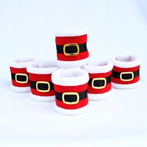 4Pcs lot Santa Clothes Napkin Ring Xmas Towel Holder Circles Christmas Dinner Party Table Decor Christmas Decorations For Home Y18102609