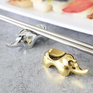 Kreative Nashorn Essstäbchenhalter Nashorn Form Messer Gabel Löffel Stäbchen Geschirr Halter Tisch im Restaurant Ess-Stäbchen Rest
