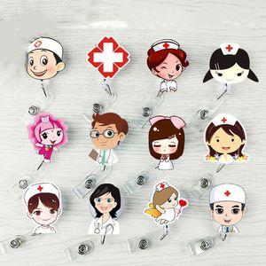 Аксессуары Симпатичные Выдвижной держатель Знак Reel Student Nurse выставка ID Enfermera Название карты Badge Holder Канцелярские питания