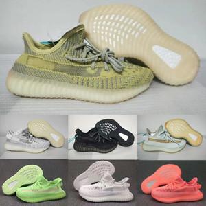 Tasarımcı Marka Çocuk Kanye West Pompa Gid Glow Hiperuzay Kil Siyah Melek Statik V2 Boys Kız Ayakkabı Koşu Çocuklar Spor Sneakers 28-35