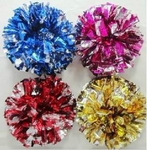 High quality cheerleading pompoms ( 20 pieces lot) Cheering pompons Cheerleader supplies Color and handle can choose