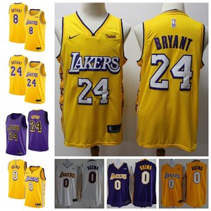 8 24 K B 0 Kyle Kuzmas Los AngelesLakerss 2019 20 Swingman Basketball Jersey Gold IconEdition