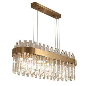 Yeni Lüks Avize Kristal Sarkıt Işıklar Aydınlatma Modern Rroonluchter AC110V-220V Altın Yemek Odası Salon Işık Fikstür LLFA