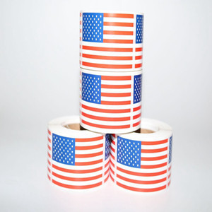 Banderas de Estados Unidos Etiqueta Moda Trump Elección Día de la Independencia EE.UU. partido del hogar de la bandera americana Etiqueta Festival Dector TTA1842