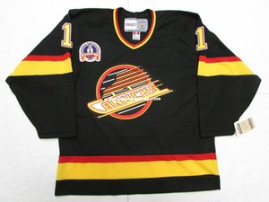 Дешевые заказ Кирк Маклин Ванкувер Кэнакс 1994 Кубка Стэнли винтаж СКК хоккей Джерси персонализированные мужские майки шить