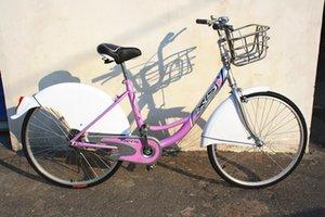 All'ingrosso della fabbrica Folding Mountain Bike Singl gonfiabile biciclette pubbliche Pubblicità bicicletta dell'automobile del regalo di promozione bicicletta blu Nazionale Sh libero