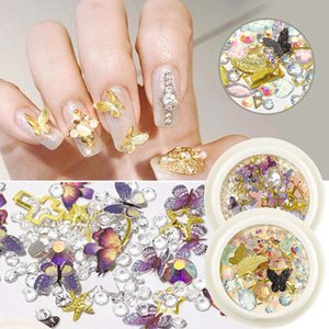 Suprimentos prego 3D Butterfly Art Stickers prego decalques Design Borboleta Nail Art Glitter Sequins Set design unhas de manicura