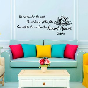 Buddha Said Do Not Dwell In The Past Wall Decals Living Room Art Vinyl Lotus Sticker Home Decor Bedroom Decoration