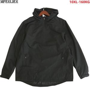 homens casacos com capuz para fora porta outwear Windproof casacos mais tamanho grande 9XL 10XL jaquetas homem 150KG 160KG puxar solto sobre casacos vermelhos 60